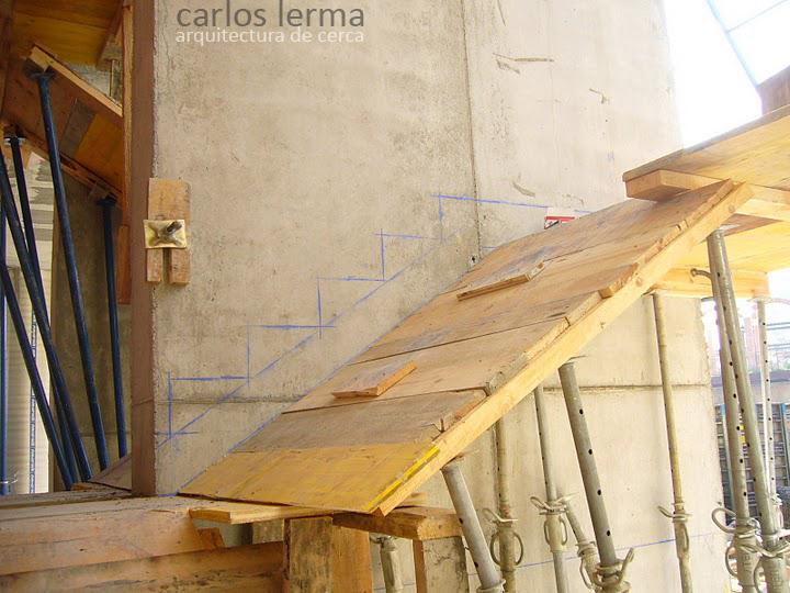 153 replanteo de una escalera de hormig n arquitectura - Escalera prefabricada de hormigon ...